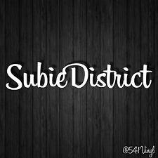 "Subie District Vinyl 9"" Decal subaru laptop funny car stickers racing illest"