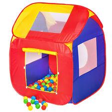 Kinderspielzelt + 200 Bälle Kinderzelt Bällebad Spielbälle Spielzelt Pop Up neu