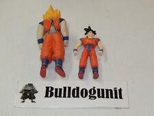 Secret Saiyan Goku & Super Goku Figure w/ Rubber Suit Only Irwin Toys 2001