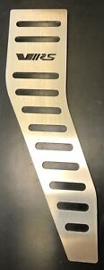 SKODA OCTAVIA VRS FOOTREST STAINLESS STEEL WITH BLACK RUBBER NEW