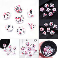 7X Bloody Polyhedral Dices Dies for Dungeons&Dragons DND RPG MTG Board Games