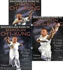 Ch'I Kung -Vol.1,2,3 Set (The Healing 18 Lohan Hands) By Sifu Seng Jeorng Au