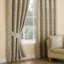 """Natural 90x90/""""//229x229cm Ellie Pencil Pleat Curtains"""