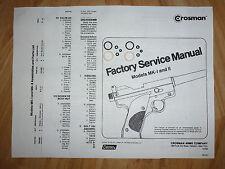 Crosman Mark I Mark II MK 1 2  Two O-Ring Seal Kits + Service Manual #2 + Guide