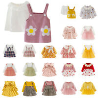 Baby Kid Girls Autumn Infant Clothes Skirts Long Sleeve Daily Patry Dresses Lot