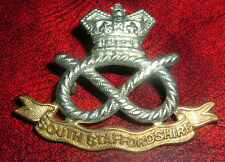 CAP BADGES-ORIGINAL BOER WAR VICTORIAN CROWN QVC SOUTH STAFFORDSHIRE REGIMENT