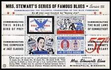 USA Poster Stamp - Advertising Mrs. Stewart's Bluing - Souv. Sheet - #3