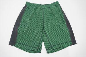 Lululemon Response Green Lined Mens Running Shorts Sz M