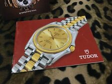 TUDOR BOOKLET TIGER CHRONO 79260 79280 ENG HK 8.2000