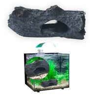 Tree Bark Hollow Log Fish Cave Reptile Decoration Aquarium Fish Tank Ornaments