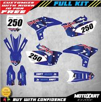 Custom Graphics Full Kit to Fit Yamaha YZF 250 2010 - 2013 AUSSIE STYLE stickers
