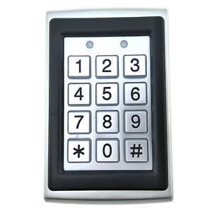 Standalone Door Access Keypad RFID EM Reader Security Control Vandal Proof WG26