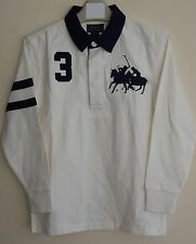 BNWT POLO RALPH LAUREN BOYS/KIDS LONG SLEEVE DUAL RUGBY TOP/POLO SHIRT 6 YEARS