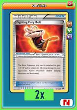 Trainer Playset 2x Fighting Fury Belt TCG ONLINE ( PTCGO digital card )