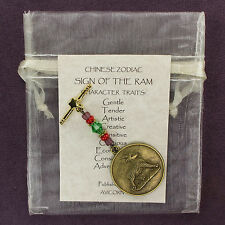 RAM SHEEP GOAT CHINESE ZODIAC CHARM Astrology Totem Sign Horoscope Lunar Year