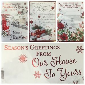 """OUR HOUSE TO YOUR HOUSE CHRISTMAS CARD 5.5""""x7.5""""  (XMAS10)"""