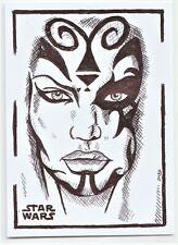 ACEO Sketch Card Star Wars Darth Talon Sith (ink)
