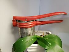 New listing Vintage Metal Rice Potatoes Masher Red Handle Used