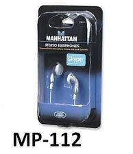 Stereo Earphone Headset w/ Built-In Microphone & Volume Control 176217, MP-112