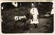 Hyde photo. WW1 Patriotic Donkey & Pierrot by Rawlins, 28 Edna Street, Hyde.