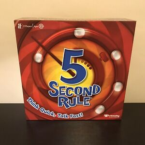 5 Second Rule Board Game Brand New Sealed 8+ Full Size
