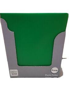 Pen & Gear 3 Prong Plastic Green Folders 32 ct case