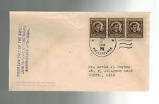 1946 Manila Philippines First Day COver FDC Dr Rizan strip of 3