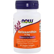 Now Foods Astaxanthin - 60 - 4mg Veggie Softgels - Healthy Inflammation Response