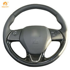 Black Genuine Leather Steering Wheel Cover for Mitsubishi Outlander ASX 2016