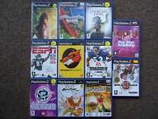 PS2 Kids Games Narnia/Avatar/Snicket/Pinball/NFL/Pop/Racing/Quiz/NFL/Pop Star