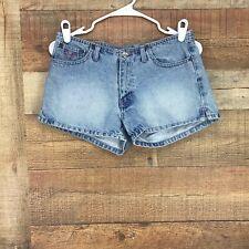 Angels Women's Embellished Back Pockets Medium Wash Denim Shorts Sz 9