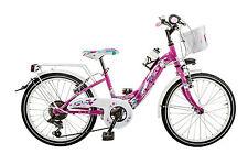 """Bicicletta Venere GALANT BB20CC bambina 20"""" acciaio shimano 6 V bici con luci"""