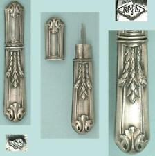 Antique French Silver Needle Case * Circa 1900
