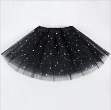 Star GLITTER SPARKLE TUTU TULLE DRESS Women Kids Girls Ballet Dance Tutu Skirt