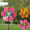 Flower Windmill Wind Spinner Pinwheels Home Garden Yard Decoration Kids Toys Pj
