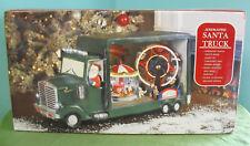 Animated Santa Truck - Christmas Decor - Music & Light up Carousel Ferris Wheel