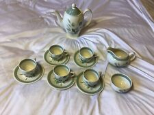 More details for vintage rare clovelly green wood &  sons england coffee/tea set
