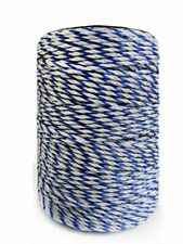 Electric Fence Poly Wire White Blue Poly Wire With Steel Wire Poly Rope