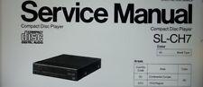 service manual lettore cd player stereo Technics Panasonic SL-CH7 su carta a4