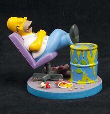 Simpsons Misadventures Homer Asleep on the Job Hamilton Collection Sculpture