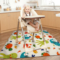 High Chair Splash Mat Floor Protector Non Slip No Mess Baby Feeding 110x110cm
