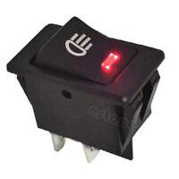 New 12V Vehicle Car Boat Fog Light LED Rocker Switch Dash Dashboard Red 4 Pin