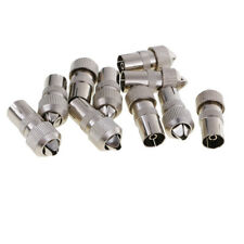 10pcs RF Coaxial Cable TV Aerial Lead Coax Female Plug Connector to Socket