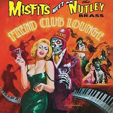 Misfits Meet The Nutley Brass ‎- Fiend Club Lounge LP Orange Colored Vinyl Bonus