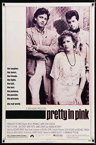 PRETTY IN PINK 1986 Movie Poster 27x41 • #BratPack #JohnHughes #MoviePoster #80s