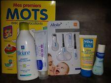 Lot Produits Soin Bébé Baby Mixa Biolane Mustela +set Manucure + Livret Mes...