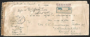 Burma Military Administration registered cover with censors DGB/4 & D/134