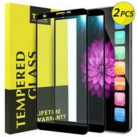 2X TJS For LG Aristo 4 Plus/Escape Plus Cover Tempered Glass Screen Protector