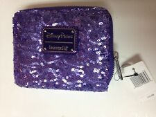 Disney Mickey Mouse Potion Purple Sequin Zip Around Wallet by Loungefly New