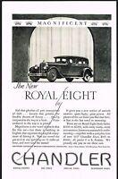 1927 Original Vintage Chandler Royal Eight Car Automobile Art Print Ad